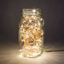 Mason Jar Lights Outdoor by Amazon Com Fairy Lights 33 Foot Plug In 100 Micro Led On Copper