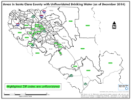 Zip Code Map San Jose by Fluoridation Santa Clara Valley Water District