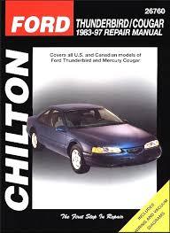 car repair manuals online free 1990 ford thunderbird parental controls ford thunderbird mercury cougar repair manual 1983 1997 chilton