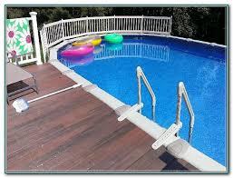 above ground pool wood deck kits decks home decorating ideas