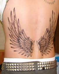 fantastic angel wings tattoo on lower back tattooshunter com