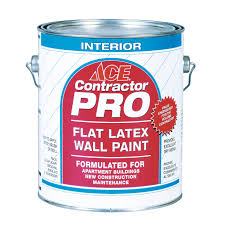 ace contractor pro interior flat wall paint gallon