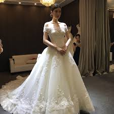 wedding dress version usd 241 63 the word shoulder wedding dress 2018 is a new wedding