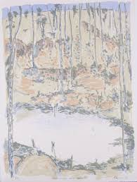 Screen Print Aprons David Rankin Brown Ridge And Dam 2 Screenprint On Paper