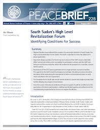 south sudan u0027s high level revitalization forum united states
