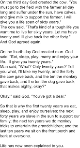 god u0027s creations accurately explain the stages of life when