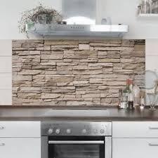 steinwand küche fliesenbild küche asian stonewall steinmauer helle steinwand