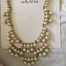 statement necklace pearl images Stella dot jewelry stella dot frances pearl statement necklace jpg