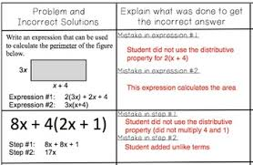 expressions find and fix the errors worksheet by math on the move