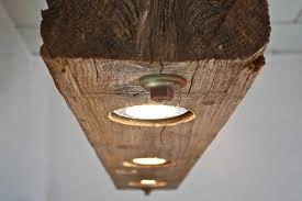 Wooden Light Fixtures Wooden Beam Light Fixture By Rte 5 Reclamation