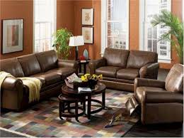 Contemporary Living Room Leather Furniture Ideas Paint With Brown - Decorating ideas for living rooms with brown leather furniture