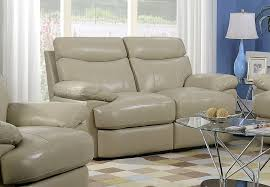 Beige Leather Loveseat Living Rooms Sofa Loveseat Motion The Furniture Warehouse