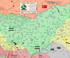 Syria War Map by Map Showing Control Of Areas In Northern Aleppo After Al Bab Was