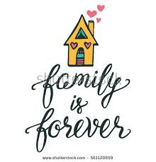 vector calligraphy family forever brush stock vector 561120859