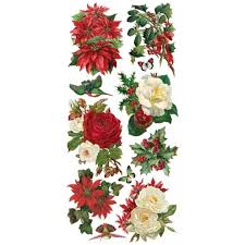 Christmas Flowers Stickers For Christmas