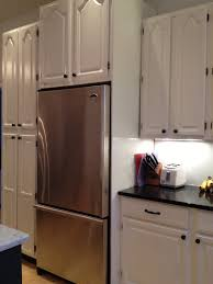 Kitchen Refrigerator Cabinet Faking A Built In Refrigerator Before U0026 After Love This Layout