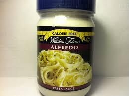 crazy food dude review walden farms alfredo pasta sauce