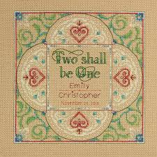 dimensions counted cross stitch kit two as one wedding record