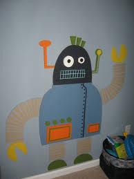robot mural for the wall boys room pinterest walls robot robot mural for the wall