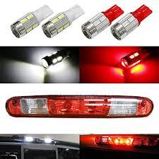 ford f350 third brake light bulb amazon com ijdmtoy 4 high power 10 smd 921 912 920 168 t10 led