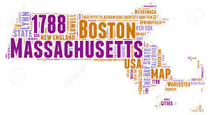Massachusetts State Map by Massachusetts Usa State Map Tag Cloud Illustration Stock Photo