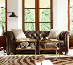 Chesterfield Tufted Leather Sofa Pottery Barn Tufted Leather Sofa 2 Chesterfield C Audioequipos