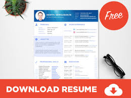 free resume templates download psd templates free resume template download psd sketch by s ξ r g u s h k i n