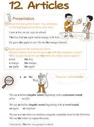 good grammar grade 3 grammar lesson 12 articles