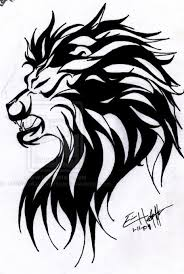 too big for me but this tribal lion tattoo would look good on a
