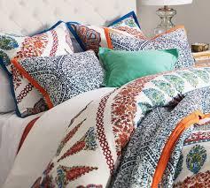 aurora quilt cover u0026 pillowcase cool multi pottery barn au