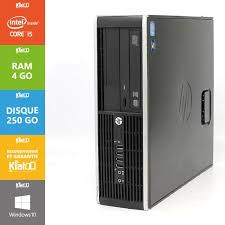 pc bureau reconditionné pc bureau hp elite 8200 i5 4go ram 250go disque dur ordinateur