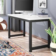 Gray Computer Desk Ebern Designs Capson Writing Desk To 55 Large Computer Desk For