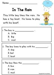 kindergarten reading passage guided reading comprehension passages and questions ideal for esl