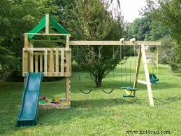 Building A Backyard Playground by Free Plans For Kids Wooden Playset Eric Built A Version Of This