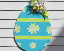 Easter Egg Door Decorations by Easter Door Hanger Unfinished Wood Decor Easter Decoration