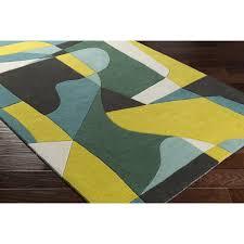 ebern designs dewald hand tufted green yellow area rug u0026 reviews