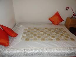 ethnic gift bedspread handwoven daybed or divan cover floor