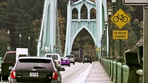 Traffic Map Portland by Is It Time For Bike Lanes On The St Johns Bridge