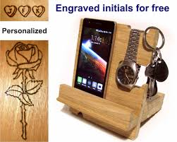 Electronic Charging Station Desk Organizer Desk Organizer Wood Iphone Station Wooden Iphone Stand
