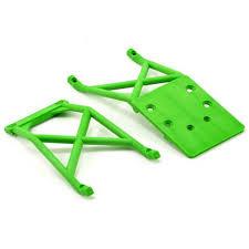 traxxas green front u0026 rear skid plate set grave digger michael u0027s