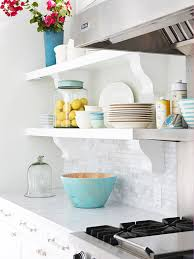 Kitchen Cabinet Shelf Brackets by Low Cost Cabinet Makeovers Open Kitchen Shelving Open Kitchens