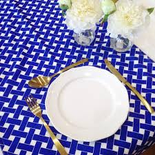 blue and white table runner table runners the sweet party shop