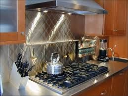 kitchen stove backsplash tile stainless subway tile peel and