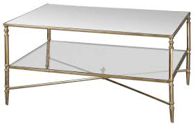 brass and glass end tables furniture uttermost henzler mirrored glass coffee table for living