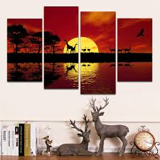 africa red tone modern landscape canvas prints african pictures