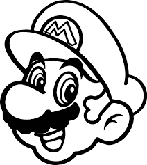 super mario happy face coloring page wecoloringpage