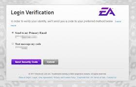 origin login verification extra account security
