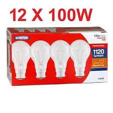 100w clear light bulbs 12x status genuine uk heavy duty house gls clear light bulb lamp