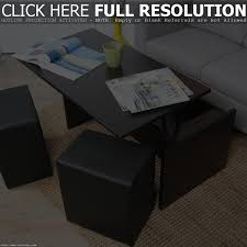 coffee table with chairs underneath home table decoration