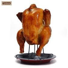 vertical turkey roasting stand steel can chicken turkey roaster oven rotisserie bbq grill rack